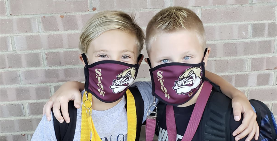 boys masks first day